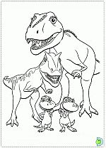 Dinosaur Train coloring pages, colouring Dino Train- DinoKids.org Wallpaper