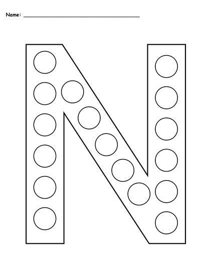 FREE Letter N Do-A-Dot Printables – Uppercase & Lowercase Wallpaper