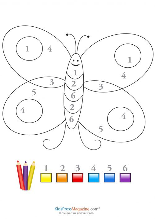 Fanciful Butterfly Color By Number Wallpaper