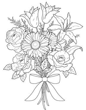 Flower Coloring Pages for Adults Wallpaper