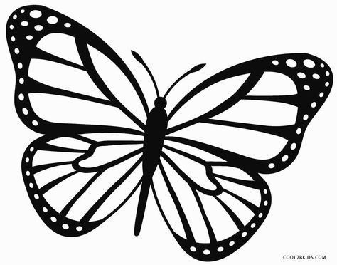 Monarch-Butterfly-Coloring-Page Monarch Butterfly Coloring Page