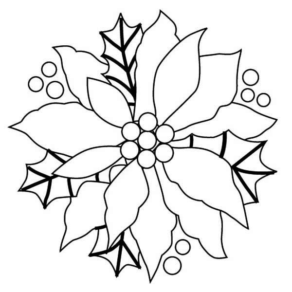 Poinsettia-Coloring-Picture Poinsettia Coloring Picture