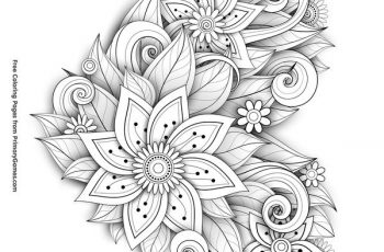 Valentine S Day Coloring Pages Ebook Flower Heart Tsgos Com