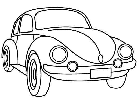 vw beetle coloring pages 01 Wallpaper