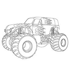 10 Wonderful Monster Truck Coloring Pages For Toddlers Wallpaper