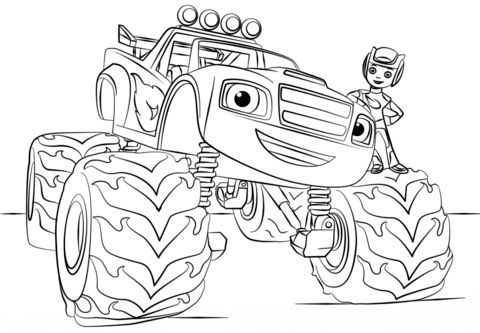 Blaze Monster Truck Coloring Pages Wallpaper
