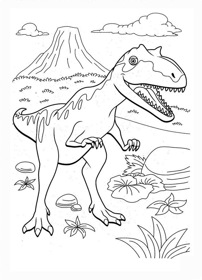 Dinosaur Train Coloring Pages 04 Wallpaper