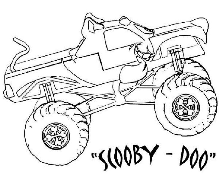 Scooby Doo Monster Truck Coloring Pages Wallpaper