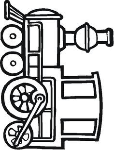 Train Coloring Pages And Activities 1