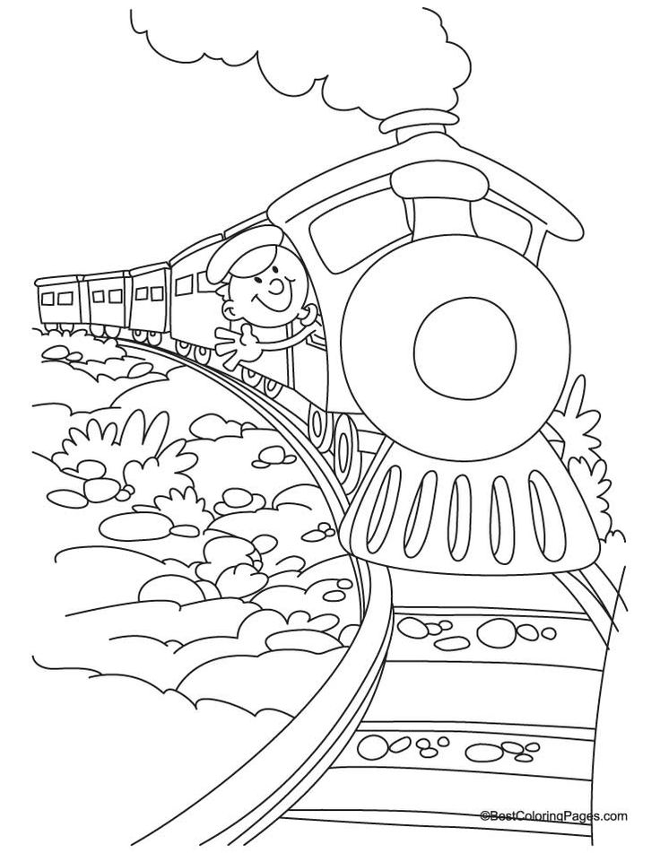 Train coloring page 4   Download Free Train coloring page 4 for Wallpaper