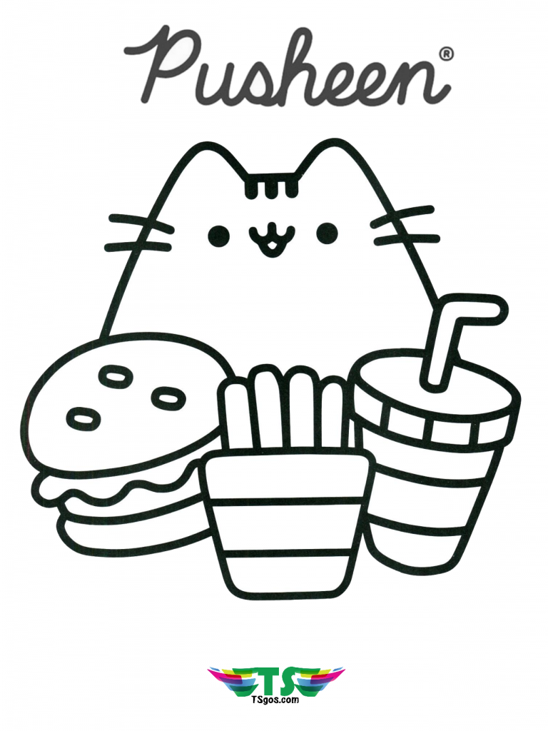 Free-download-Pusheen-the-cat-coloring-page-768x1024 Free download Pusheen the cat coloring page.