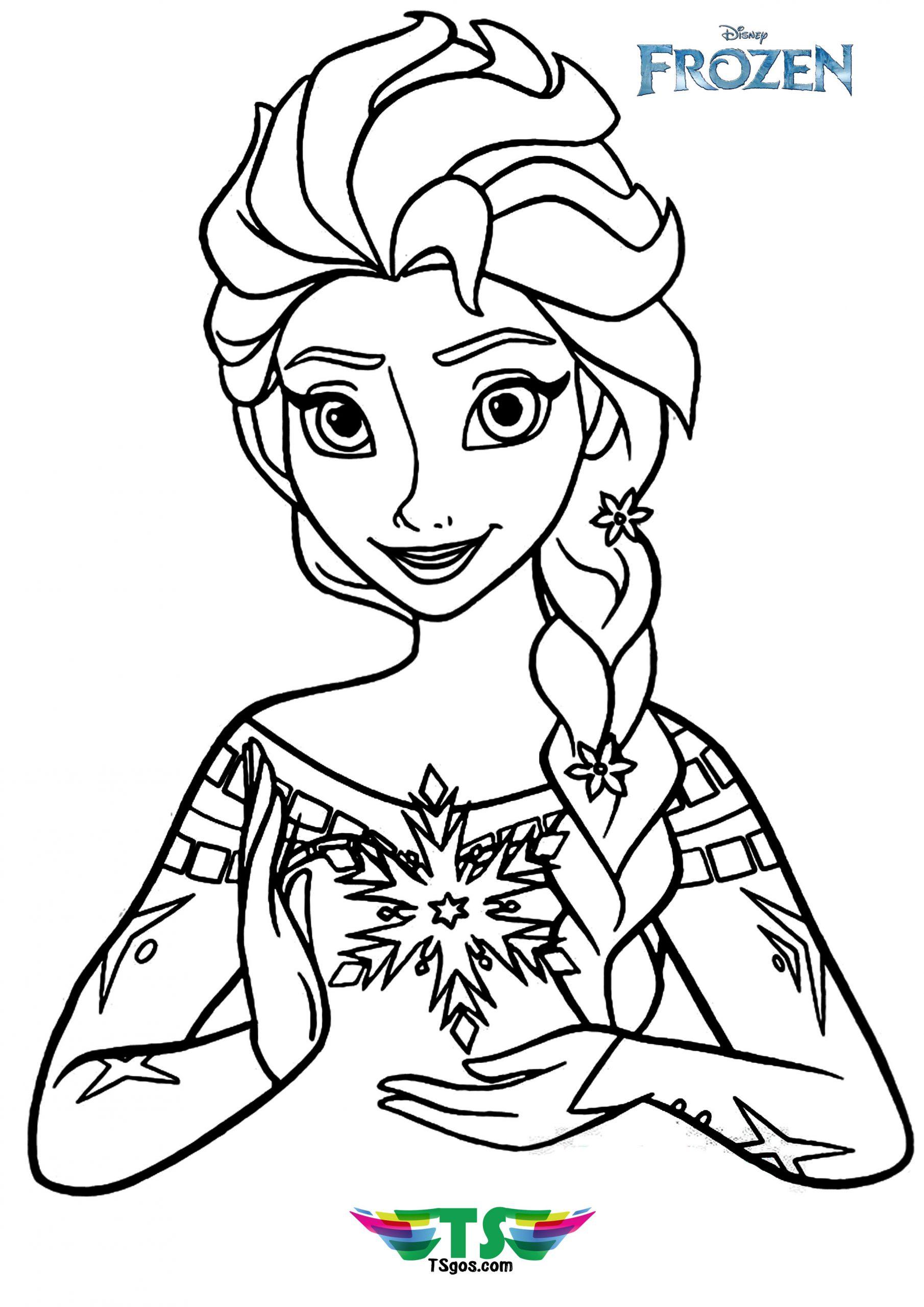Beautiful Elsa Coloring Page