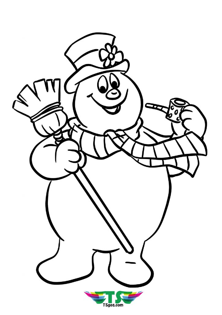 Kids Frosty The Snowman Tsgos Coloring Page