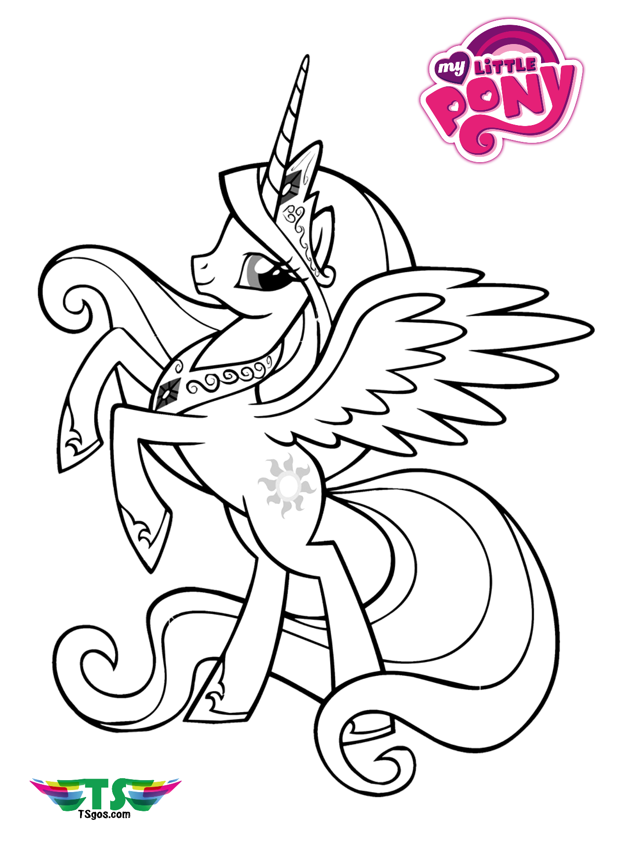 Free download My Little Pony Unicorn coloring page ...
