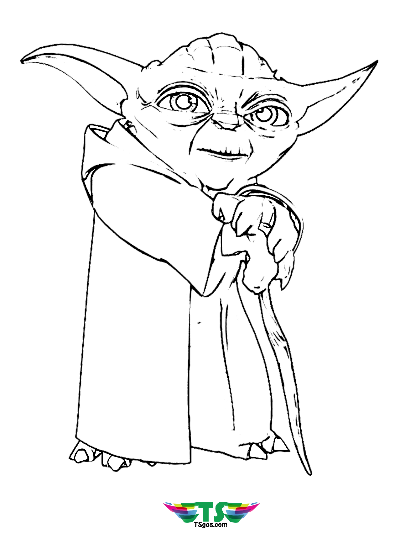 Image for Star Wars Master Yoda coloring pages.