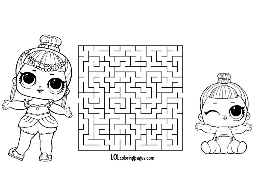 lol doll coloring pages little sisters ...