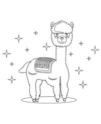 Cute Llama Coloring Page only For you kids