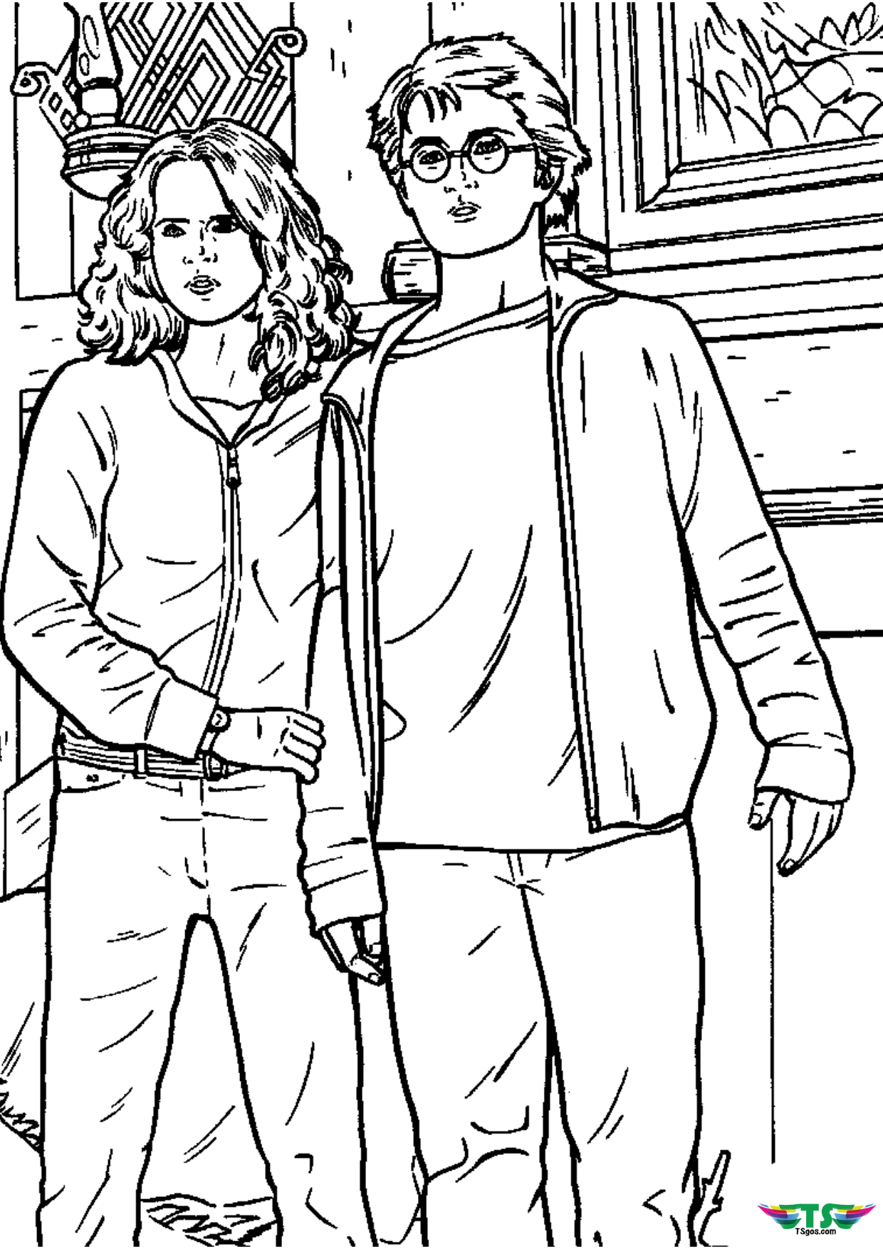 harry potter and hermione coloring pages harry potter Wallpaper