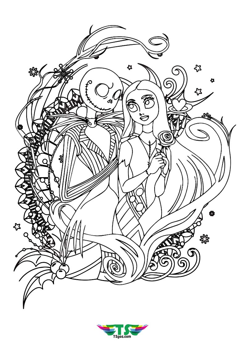 Nightmare Before Christmas Coloring Pages Wallpaper