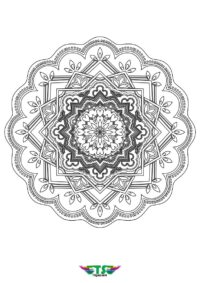 Special Edition Mandala Coloring Page For Kids