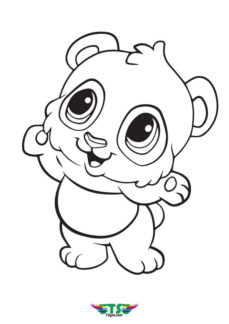 Cute Panda Coloring Page For Toddler
