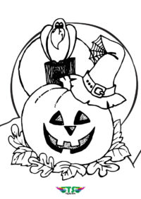 Pumpkin Nightmare Halloween Coloring Page