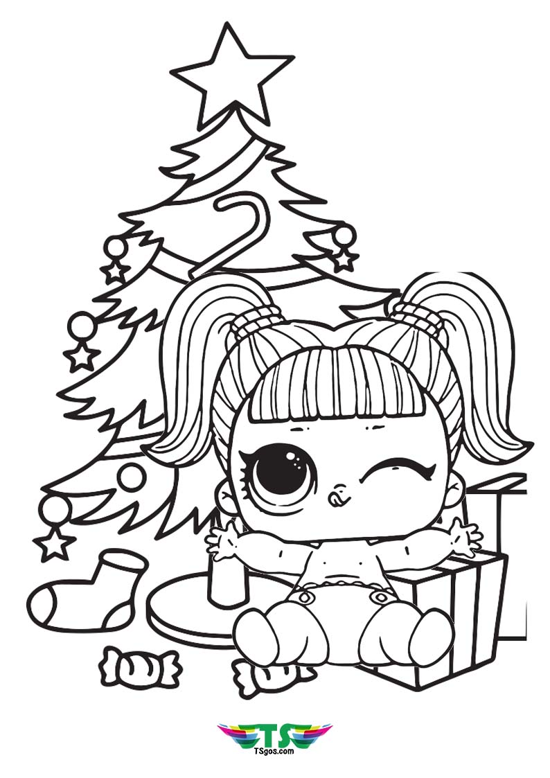 Baby Lol Dolls Christmas Edition Coloring Page