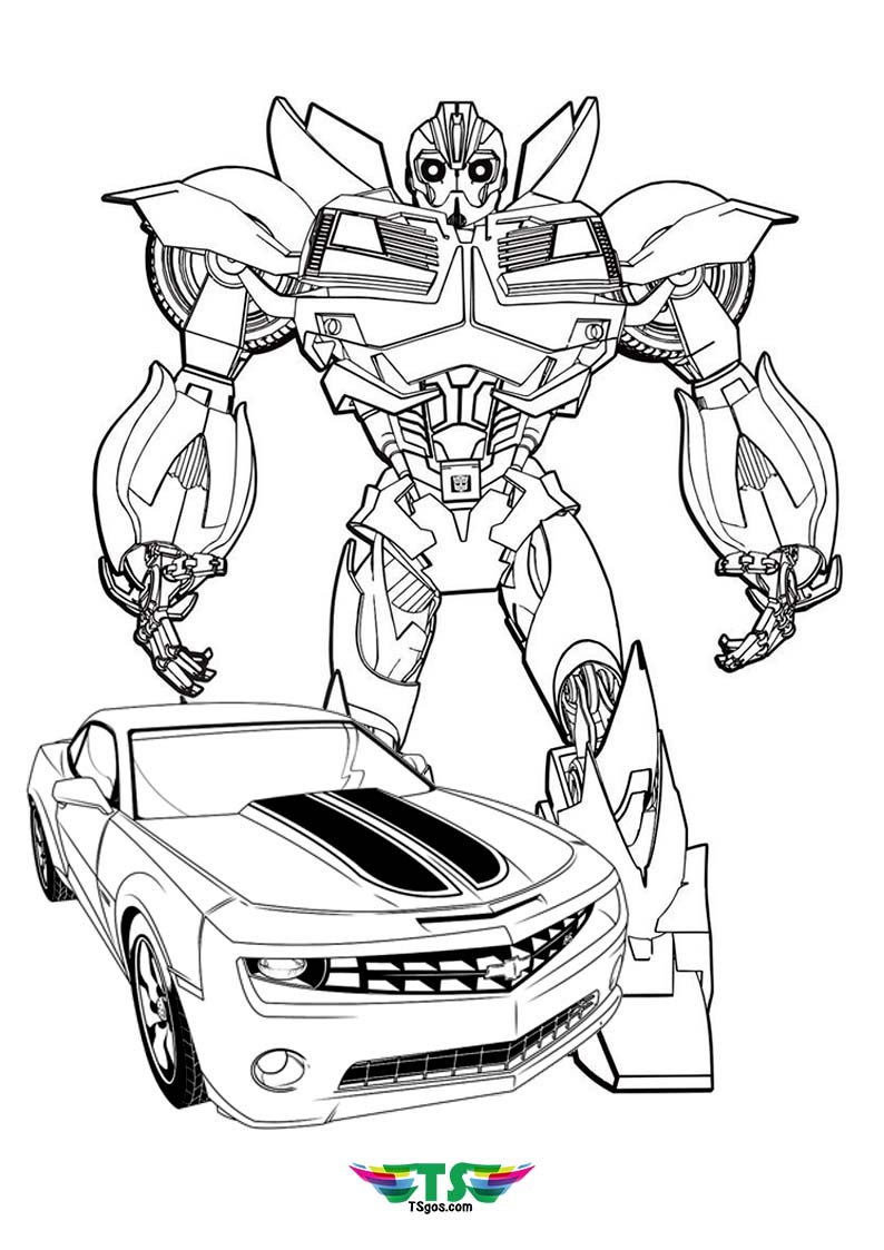 Bumble Bee Transformer Coloring Page For Kids