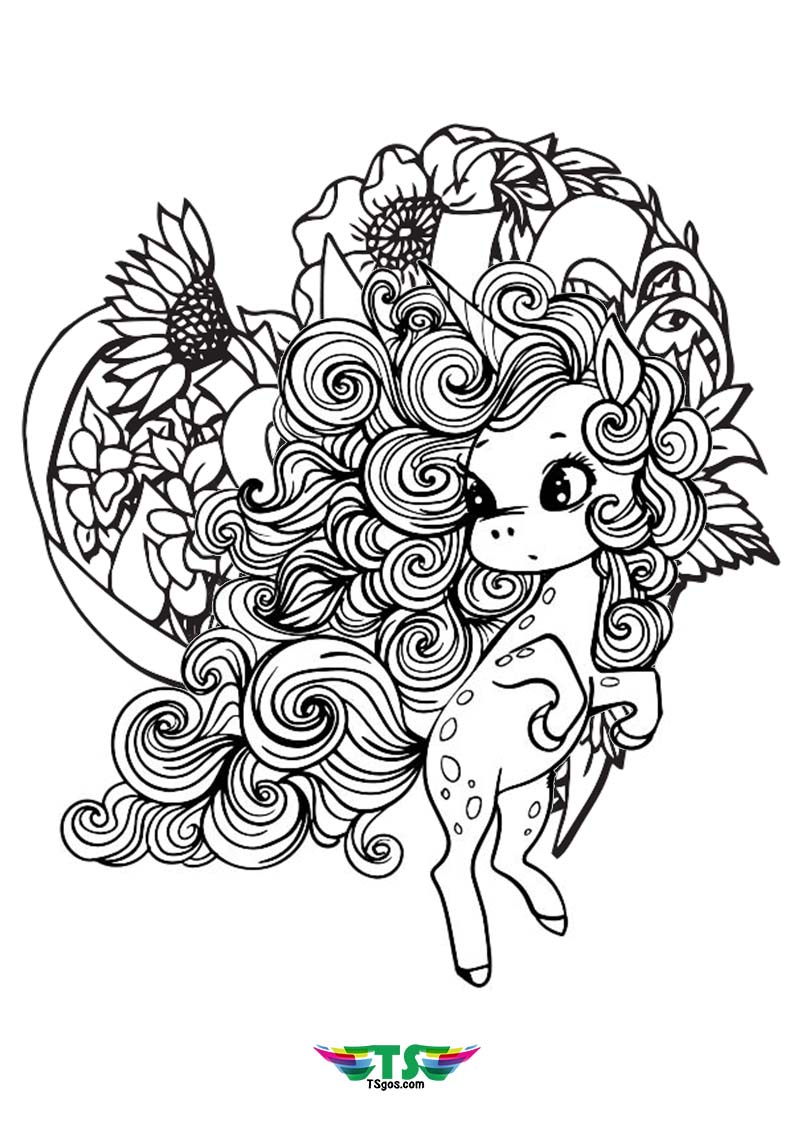 Mandala Best Unicorn Coloring Page For Kids
