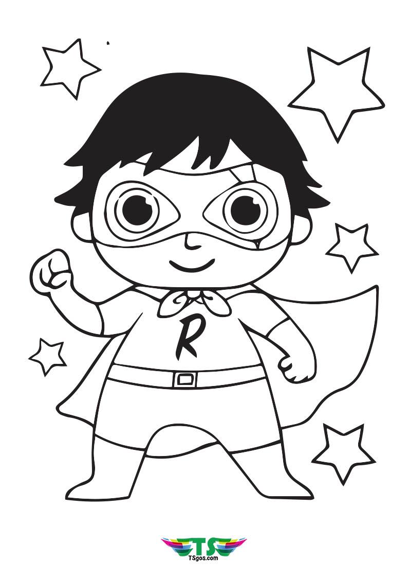 Ryan's World Superhero Coloring Pages Wallpaper