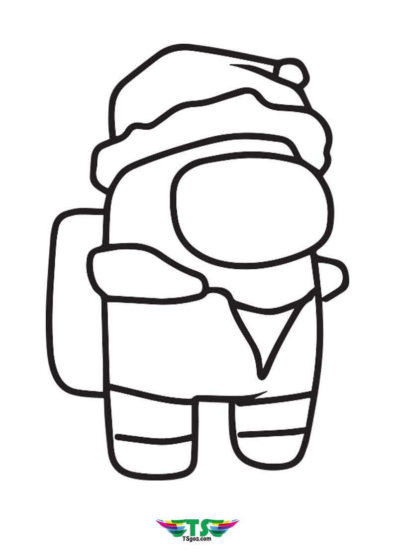 Trending Game Among Us Coloring Page