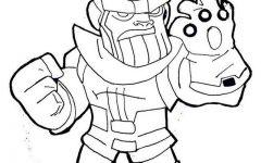 Lego Thanos Coloring Sheet