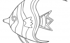 Beautiful fish coloring picture.