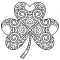 Free download shamrock st patricks day coloring sheet